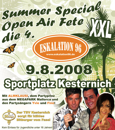 Summer Special XXL Open Air Fete die 4.